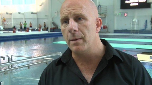 Diving coach Andy Banks