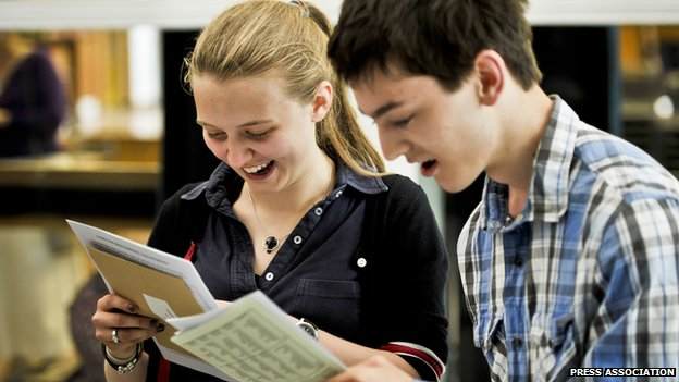 Two students with results