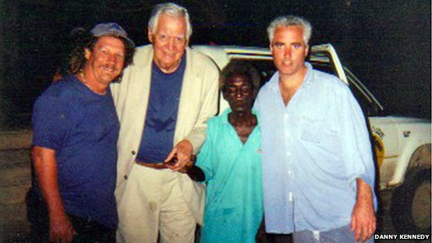 Danny Kennedy, Dick Kerasy (Commanding officer of PT 105), Eroni Kumana and Max Kennedy