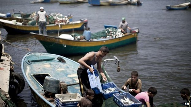 Fishermen in Gaza, 5 Aug