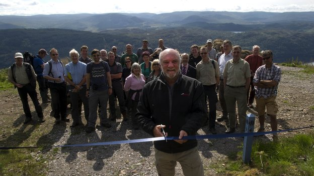 Cameron McNeish and opening of new section