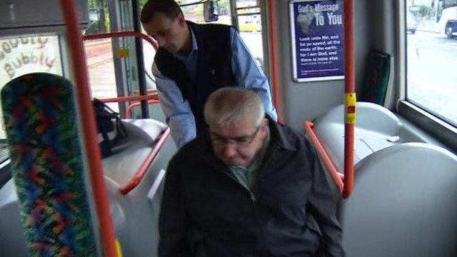 Philip McGrath and bus driver