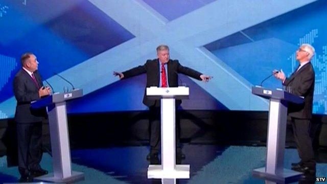 Alex Salmond and Alistair Darling debate