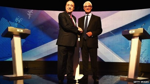 Alex Salmond and Alistair Darling