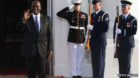 Ivory Coast's prime minister at White House
