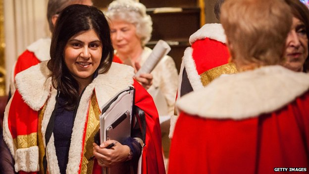Baroness Warsi after the State Opening of Parliament in May 2012