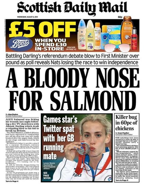 The front pages of Scotland's newspapers - BBC News Daily Mail