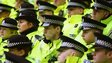 Police in Glasgow at football match