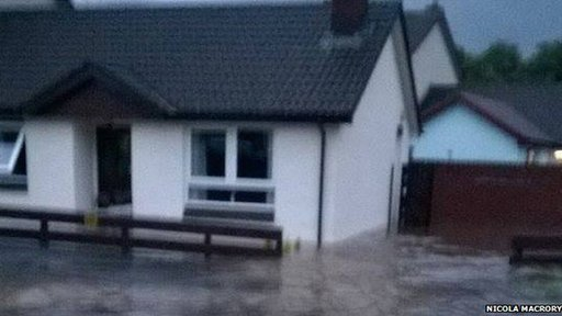 About 20 houses in Magherafelt were  flooded on Tuesday night