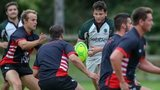 Cornish Pirates train in Guernsey