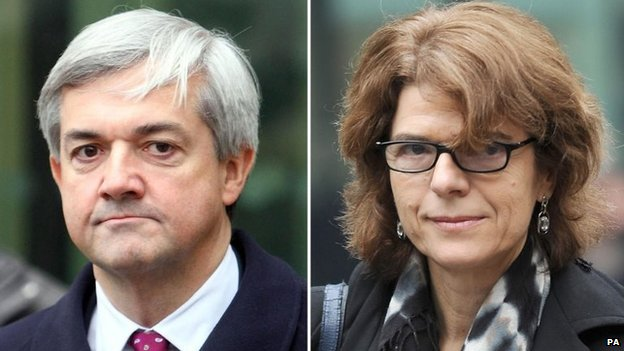 Chris Huhne and his ex-wife Vicky Pryce