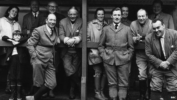 Chapman pictured with a shooting party. Game shooting also proved a fruitful way for him to make contacts.