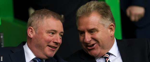Rangers manager Ally McCoist and chief executive Graham Wallace