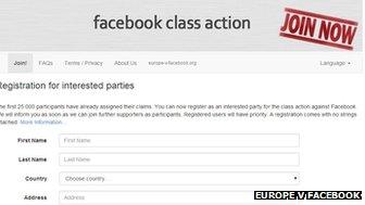 Facebook class action