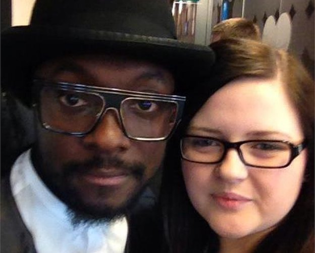 Nicola with Will.I.Am