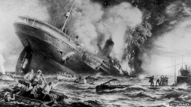 Lusitania artist impression