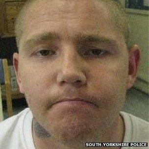 A police mug shot of absconder John Byrne