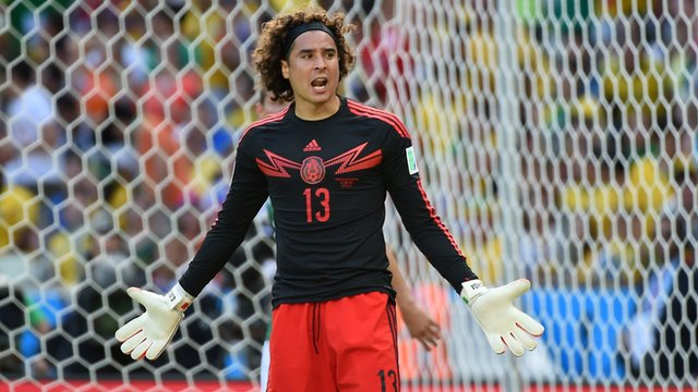 Mexico's Guillermo Ochoa in action