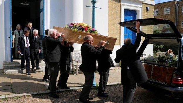 Funeral of Dora Bryan