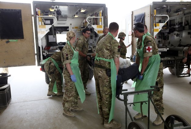 Military medics at Camp Bastion, Afghanistan
