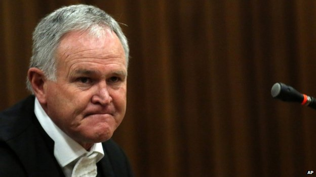 Barry Roux, defence lawyer for murder accused, Oscar Pistorius (April 2014)