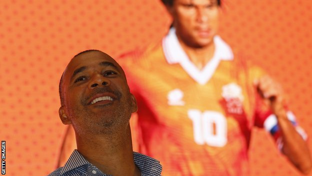 Former Dutch footballer Ruud Gullit