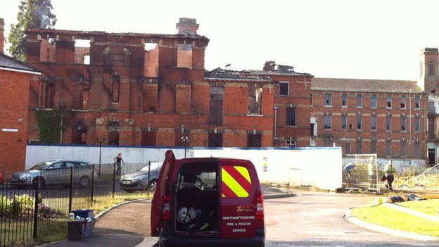 St Crispin Psychiatric Hospital after a fire