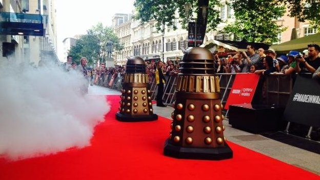 daleks on red carpet, Cardiff