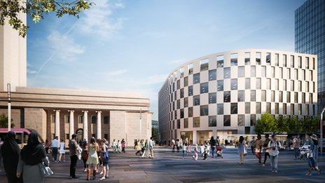 Artists Impression of Arena Central development
