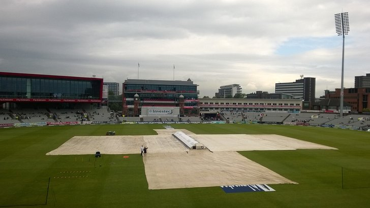 The covers are on at Old Trafford