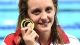 Francesca Halsall with her Glasgow 2014 Commonwealth gold medal