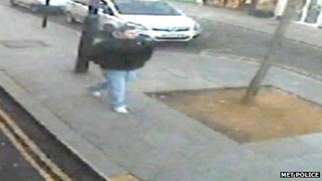 CCTV of Dean Mayley just after he got off the bus