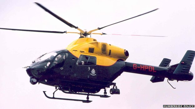 The Humberside Police helicopter