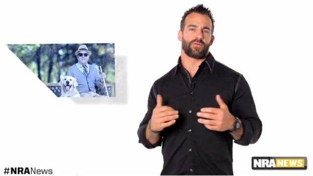 Dom Raso in the NRA video