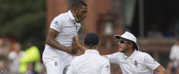 England's Chris Jordan celebrates the wicket of India's Ajinkya Rahane