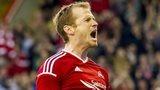 Mark Reynolds put Aberdeen 2-1 ahead against Real Sociedad