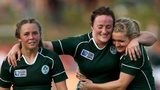 Ireland's Ashleigh Baxter, Ailis Egan and Vikki McGinn