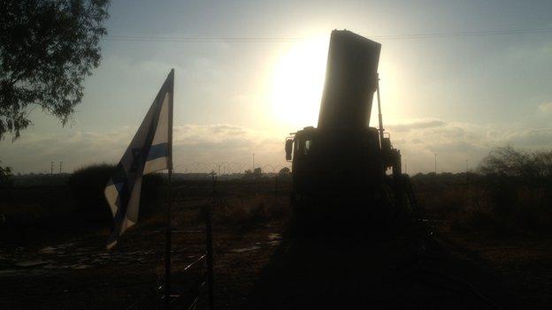 Raz battery on the Israeli border with the Gaza Strip