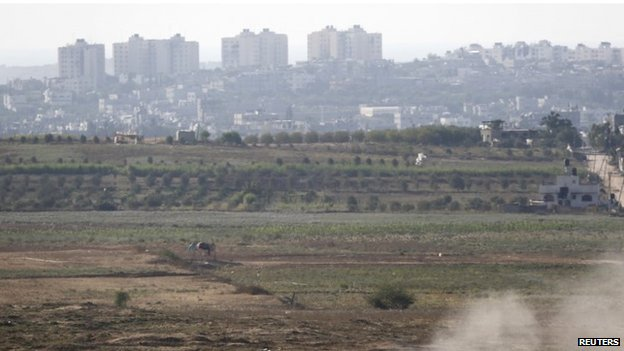 The Israeli border with the Gaza Strip (7 August 2014)
