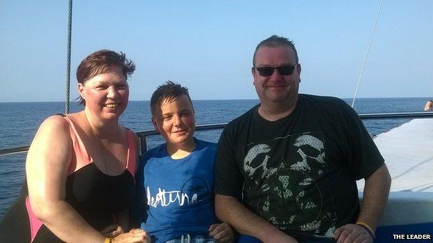 Sharon, Aled and Richard Brown