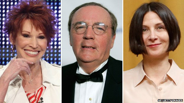 Left-right: Sandra Brown, James Patterson, Donna Tartt