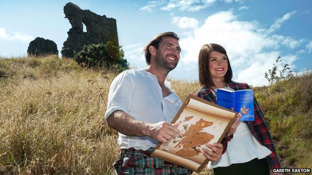 Actor Chris Capaldi and VisitScotland's Sarah Ormerod
