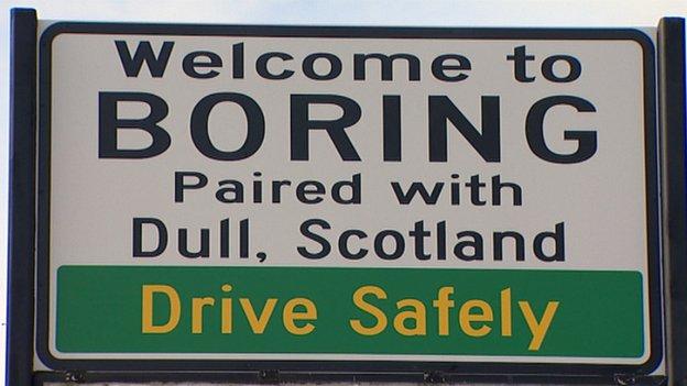 Boring sign