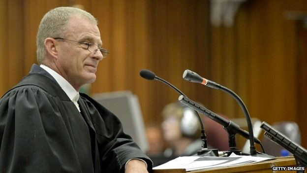 Prosecutor Gerrie Nel in the Pretoria High Court - 3 July 2014