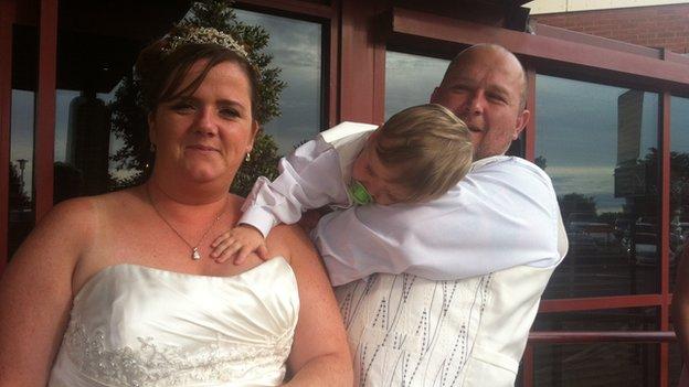 Michelle and Warren Morgan were having their wedding reception at the Marriott hotel