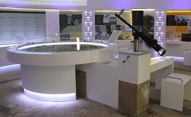 Interior view of Langham Dome Museum