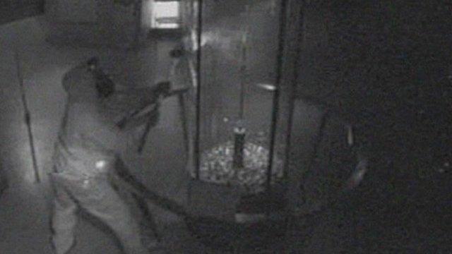 CCTV footage of diamond raid