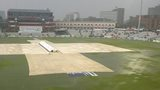 Old Trafford with the covers on