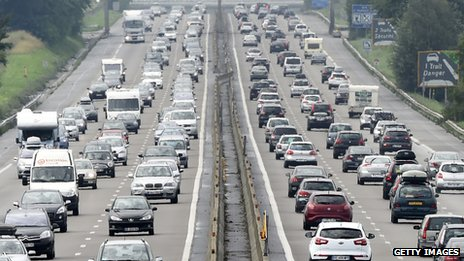 A busy motorway