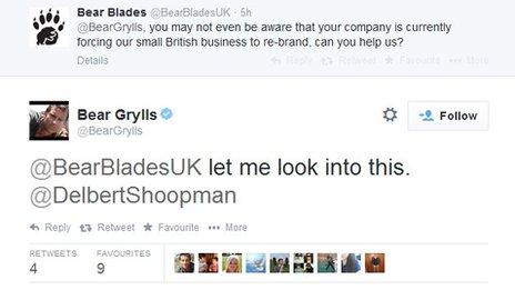 Bear Grylls tweet